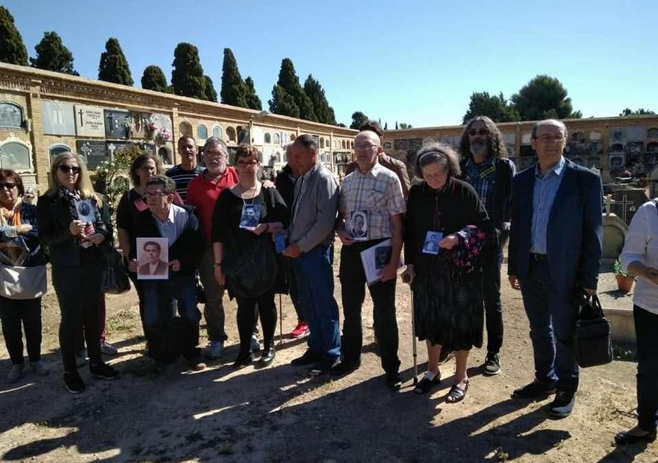 Inicio de los trabajos excavación en la Fosa 128 del Cementerio Municipal de Paterna