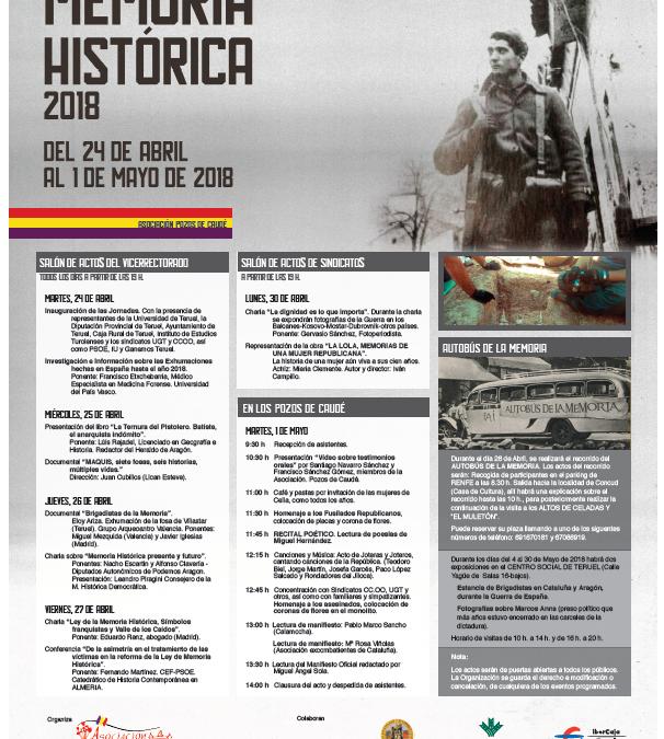 XIV Jornadas de Memoria Histórica de Teruel