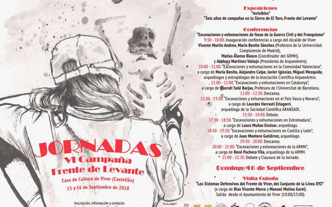 JORNADAS DE PUERTAS ABIERTAS DE LA «VI CAMPAÑA DE EXCAVACIÓN Y EXHUMACIÓN EN EL FRENTE DE LEVANTE